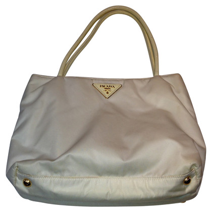 Prada White sailcloth shopper