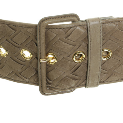 Miu Miu Braided belt in Brown