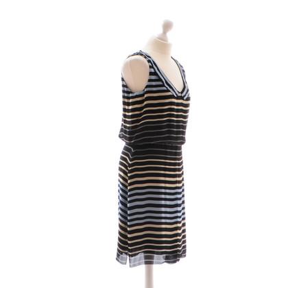 L'Agence Striped silk dress