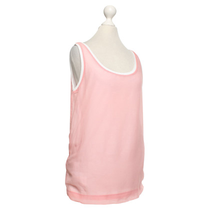Miu Miu top in white / pink