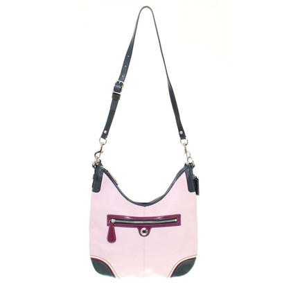 Coach Leather handbag in pink