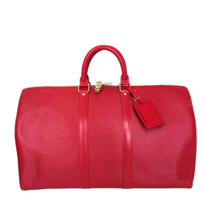 Louis Vuitton Keepall 45 Epi Leder Rot
