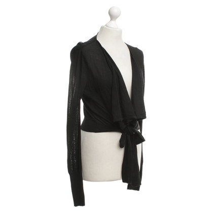 Reiss Wickel-Cardigan in Schwarz