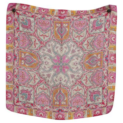 Etro Silk scarf with print motif