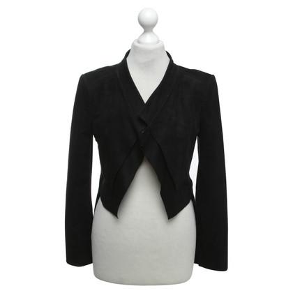 BCBG Max Azria giacca in pelle artificiale in stile abito da sera