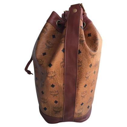 MCM Bucket Bag Visetos Cognac