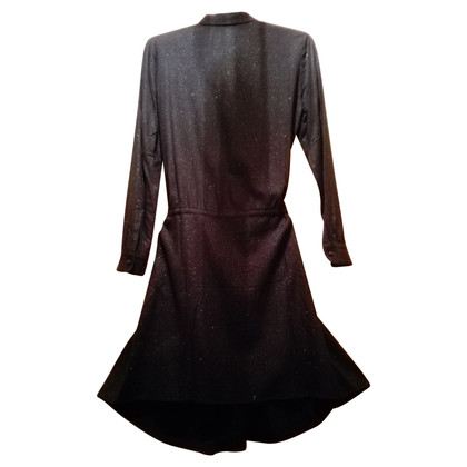 Zadig & Voltaire Shirt Dress With Metallic Finish