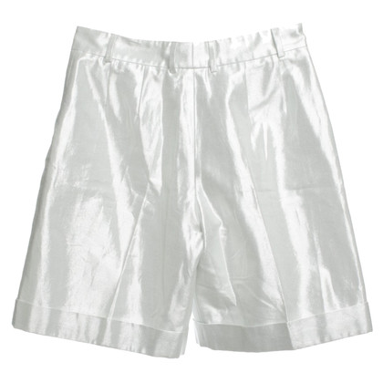 Fendi Silberfarbene Shorts
