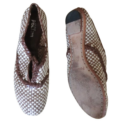 Pollini Slipper made of woven leather