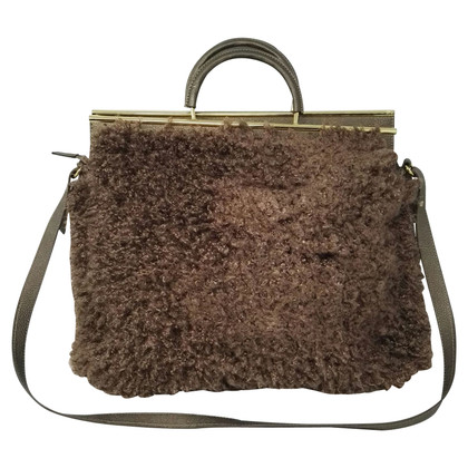 Blumarine Handbag with faux fur trim