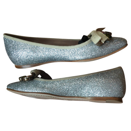 Miu Miu zilverachtige Ballerina's
