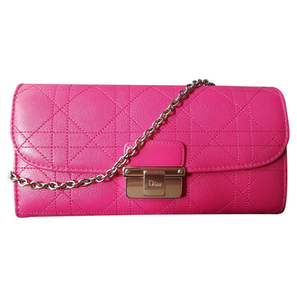 Christian Dior Diorling pink leather wallet/clutch