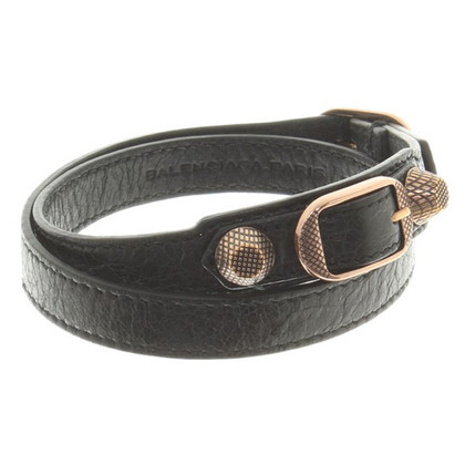 Balenciaga Leather bracelet in black