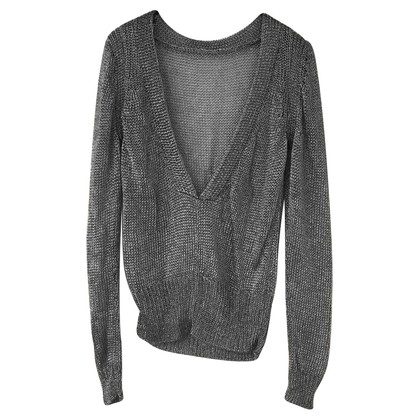 All Saints Silberfarbener Pullover