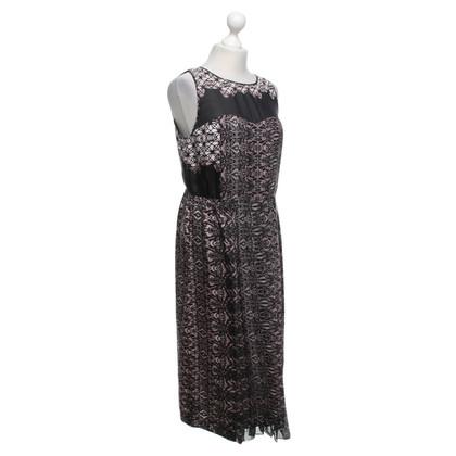 Tibi zijden jurk met patroon