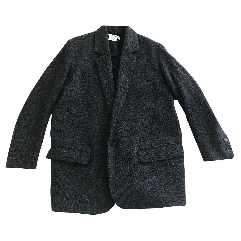 Osbert Coat from Isabel Marant: Midnight Osbert Coat with long sleeves, side slit pockets and button front fastening Composition: 49% Cotton, 21% Polyester, 8% Wool, 8% Alpaca, 4% Other Fibres. ModeSens is the premier Digital Fashion Shopping Assistant for the smart and informed.