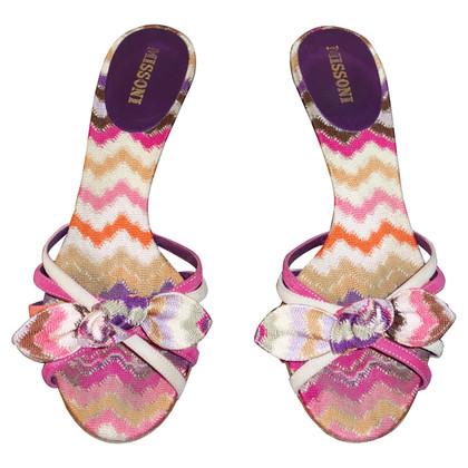 Missoni Sandalen met patroon
