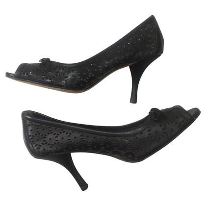 Oscar de la Renta Peep-toes in black