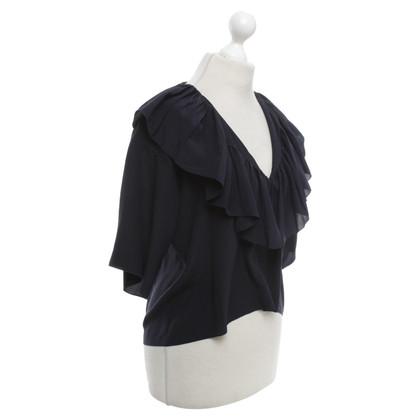 Chloé Zijden blouse in donkerblauw