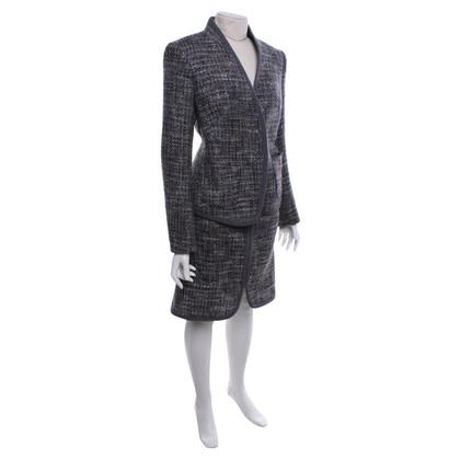 Escada Bouclé costume in grey / mixed colors