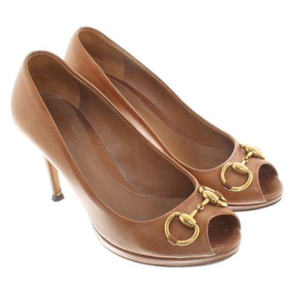 Gucci Peeptoes a Brown