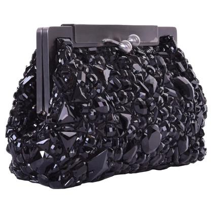Dolce & Gabbana Handtasche mit Schmuckstein-Besatz
