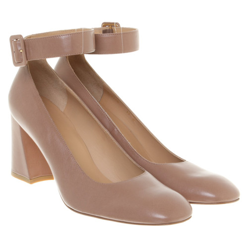 a4fa9ee28cc Stuart Weitzman Pumps Peeptoes Leather in Nude - Second Hand Stuart ...