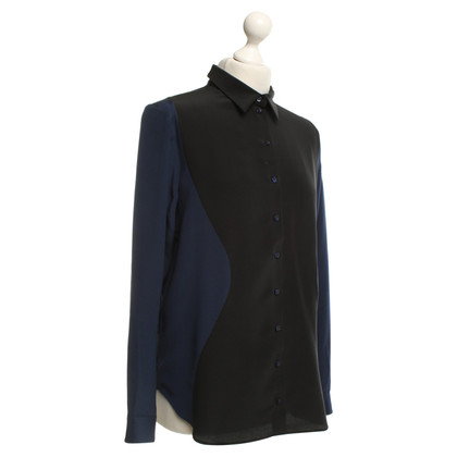 Christian Louboutin Silk blouse in blue / black