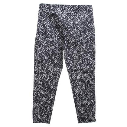 Hobbs trousers in dark blue / white