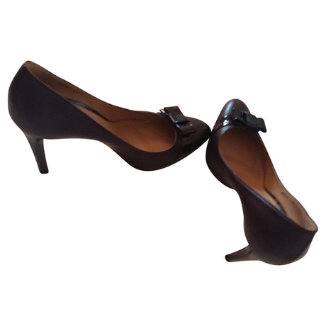 Bally High Heels in Aubergine Andere Farbe