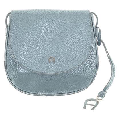 Aigner Shoulder bag in metallic blue