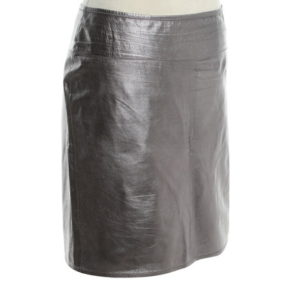 Marc Cain Leather skirt in metallic look
