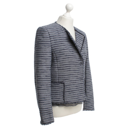 Boss Orange Tweed Blazer in blu / bianco