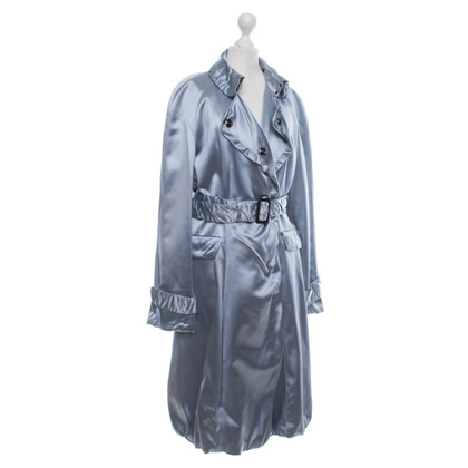 Burberry Prorsum cappotto di seta in blu