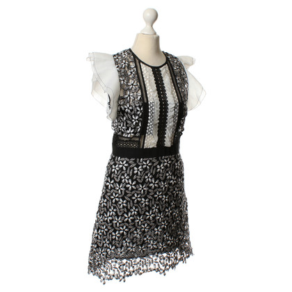 Self-Portrait Dress with a floral pattern