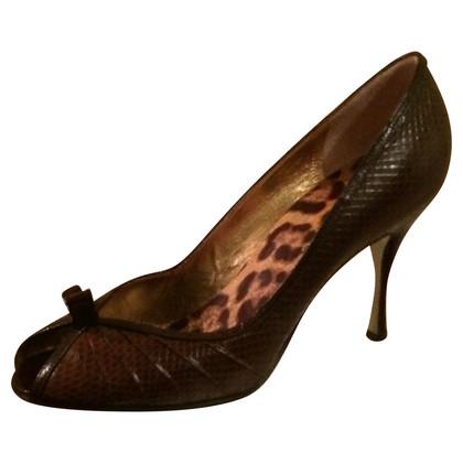 Dolce & Gabbana peep-toes snake print