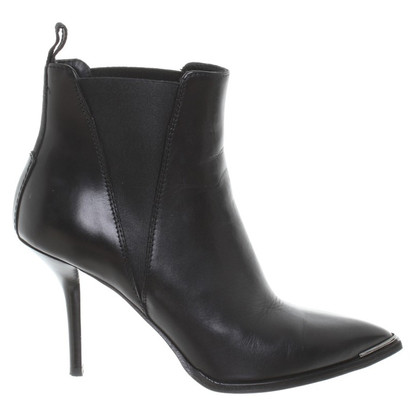 Acne Leather ankle boots in black
