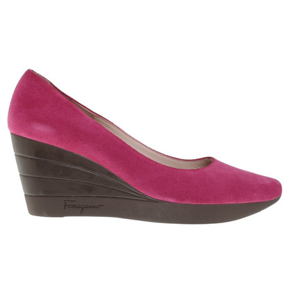 Salvatore Ferragamo Wedges aus Wildleder