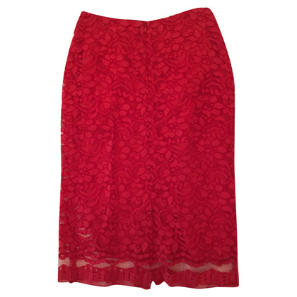 Tara Jarmon Red lace skirt