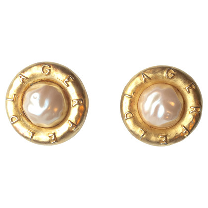 Karl Lagerfeld earrings with pearl