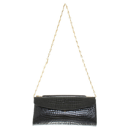 Delvaux Clutch in Schwarz