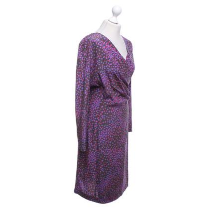 Marina Rinaldi zijden jurk in Multicolor