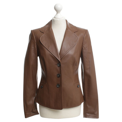 Escada Leather blazer in brown