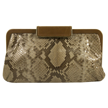 Marni clutch from python leather