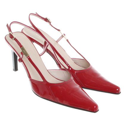 Gucci Lacklederpumps in Rot