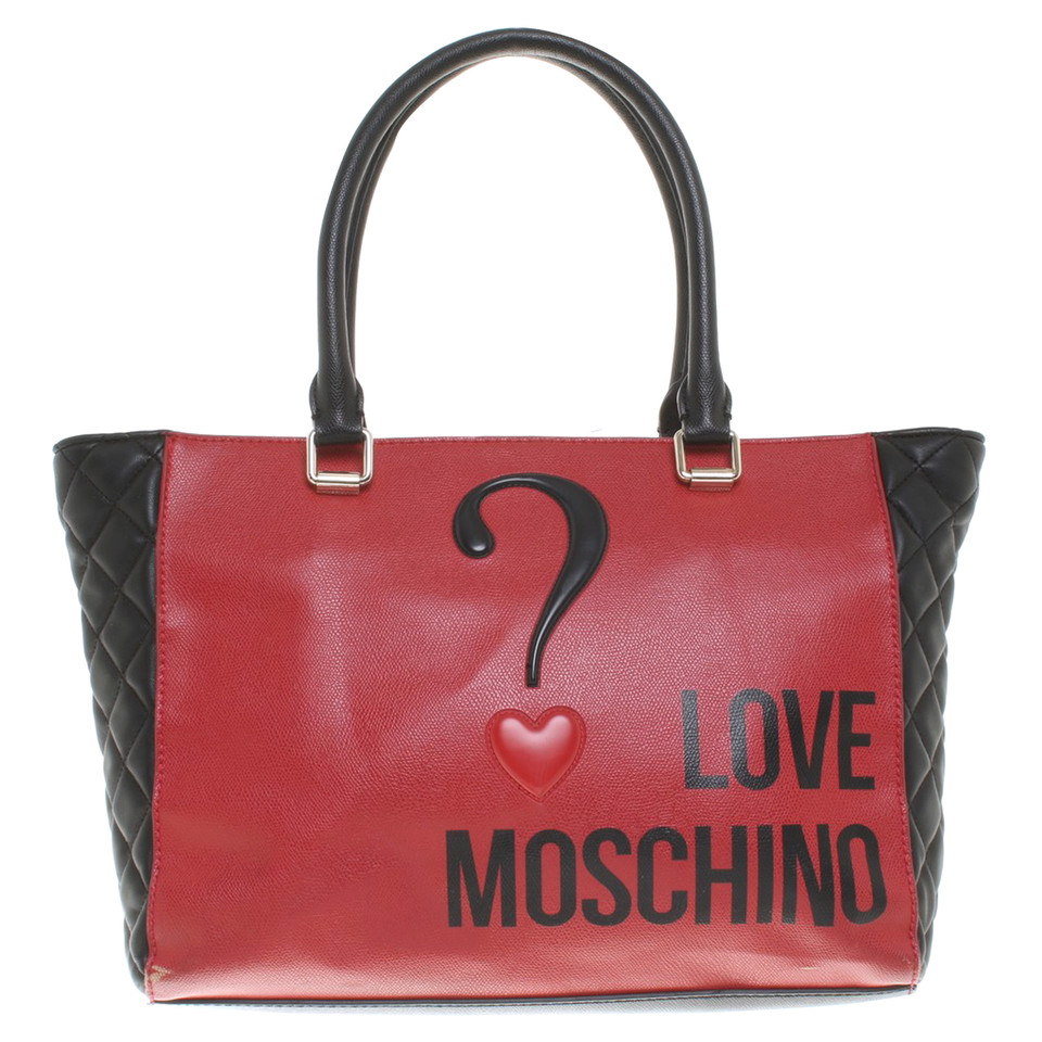 moschino love handtasche in bicolor second hand moschino love handtasche in bicolor gebraucht. Black Bedroom Furniture Sets. Home Design Ideas