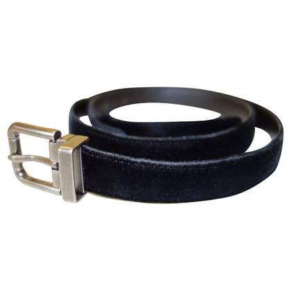 Dolce & Gabbana etichetta nera di velluto Cintura