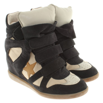 Isabel Marant Leather sneaker wedges