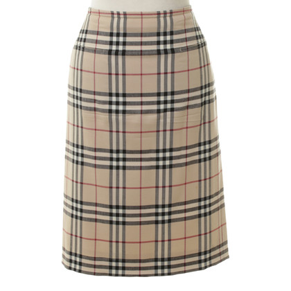 Burberry Checkered knee-length skirt