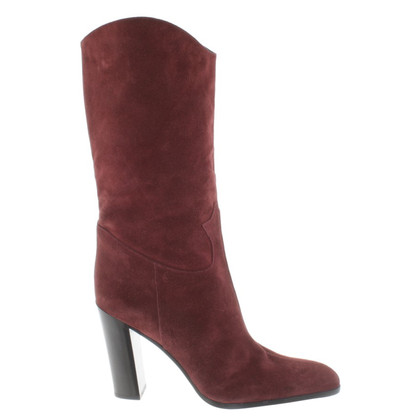 Sergio Rossi Boots in Bordeaux